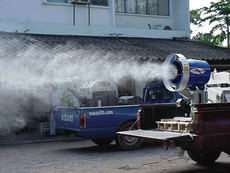 Fogging Machine in Urban and Industrial Environments